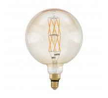 """Лампа светодиодная филаментная диммируемая """"BIG SIZE"""" G200, 8W (E27), Ø200, L290, 2100K, 806lm, янтарь"""