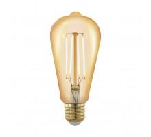 Лампа светодиодная филаментная диммируемая ST64, 4W (E27), L143, 1700K, 320lm, золотая