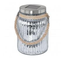 48568 Светильник на солнечной батарее, 1x0,06W(LED), сталь/прозрачный