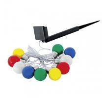 48574 Светодиод светильник на солнечн батарее в форме гирлянды, черный/пластик, цветной, 10X0,06W(LE