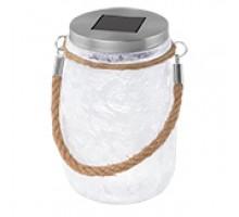 48596 Светильник на солнечной батарее, 1х0,06W(LED), сталь/белый