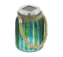48674 Светильник на солнечной батарее, 1х4W(LED), нерж сталь, стекло, синий, зеленый