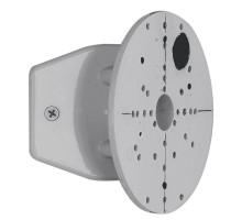 Угловое крепление для уличных светильников, сталь, серебряный