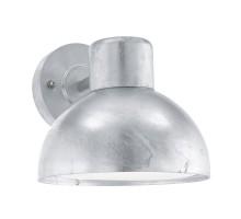 Уличный светильник настенный ENTRIMO, 1х60W(E27), L200, H185, оцинкованая сталь/пластик, белый