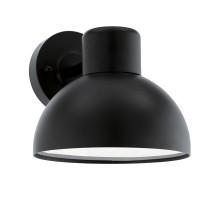 Уличный светильник настенный ENTRIMO, 1х60W(E27), L200, H185, гальван. сталь, черный/пластик, белый
