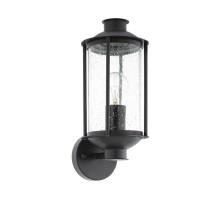 96222 Уличный настенный светильник MAMURRA, 1х60W (E27), L150, H345, гальван. сталь, черн/стекло с