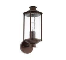 96223 Уличный настенный светильник MAMURRA, 1х60W (E27), L150, H345, гальван. сталь, черн/стекло с