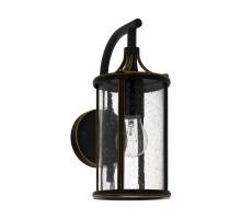 96232 Уличный настенный светильник APIMARE, 1х60W (E27), L140, H310, гальван. сталь, черн/стекло с