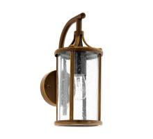 96233 Уличный настенный светильник MAMURRA, 1х60W (E27), L140, H310, гальван. сталь, темно-коричн/