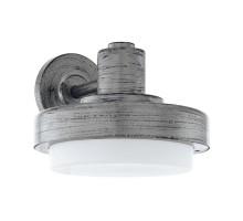 96234 Уличный настенный светильник TOLLERA, 1х60W (E27), L225, H180, гальван. сталь, состарен. сер