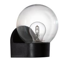 Уличный светильник настенный LORMES, 1х28W(E27), H195, пластик, черный/пластик, прозрачный