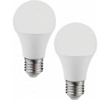 Светодиодная лампа A60, 2х9,5W (Е27), 4000K, 806lm, 2 шт. в комплекте
