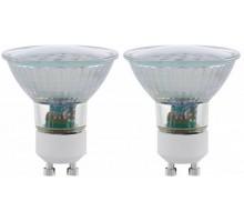 Светодиодная лампа SMD, 2х5W (GU10), 3000K, 400lm, 2 шт. в комплекте