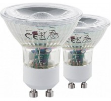 Светодиодная лампа СOB, 2х3,3W (GU10), 3000K, 240Lm, 2 шт. в комплекте
