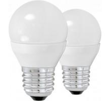 Светодиодная лампа G45, 2х4W (Е27), 3000K, 320lm, 2 шт. в комплекте