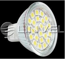 Лампа светодиодная LINVEL LS-20 24-60LED/4.5W 230V G5.3 3000K 450Lm