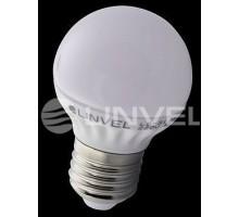 Лампа светодиодная LINVEL LS-31 7W 220V E27 3000K 600Lm шарик